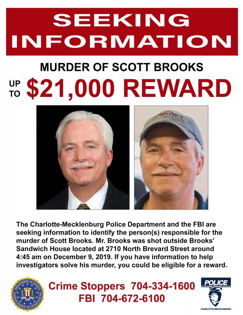 Justice for Scott Brooks - Seeking Info - up to $21,000 REWARD